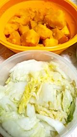 20171205晩ご飯カボチャと白菜がっこ