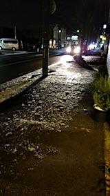 20171206外の様子歩道が凍てつく1