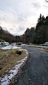 20171208山へ向かう途中の様子峠道