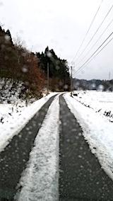 20171214山へ向かう途中の様子雪道