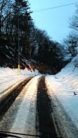 20171214山からの帰り路の様子峠道