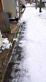 20171229歩道の雪寄せ