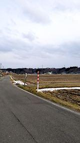 20180110山へ向かう途中の様子田んぼ