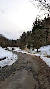 20180110山へ向かう途中の様子峠道