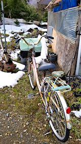 20180110自転車を小屋の中へ1