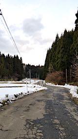 20180110山からの帰り道の様子峠道