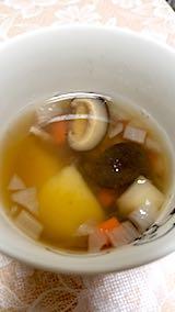 20180110晩ご飯野菜スープ