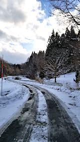 20180112山へ向かう途中の様子峠道