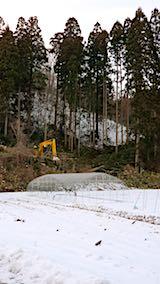 20180113山からの帰り道の様子材木の切り出し