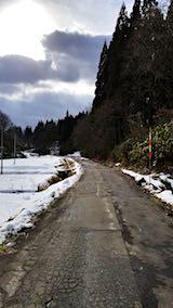20180119山へ向かう途中の様子峠道