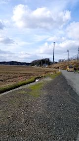 20180119山からの帰り道の様子田んぼ