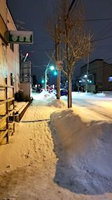 20180212外の様子夕方歩道1