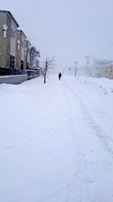 20180213雪寄せ途中の様子朝吹雪2