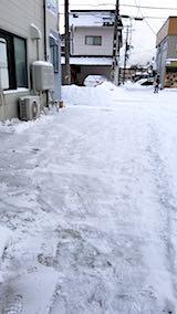 20180213雪寄せ後の様子朝お店横の駐車場