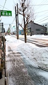 20180215外の様子夕方雪が降り凍り始める2