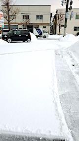 20180216向かい駐車場の雪寄せ前の様子朝3