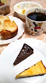 20180216朝食にケーキ