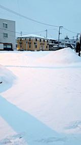 20180217向かい駐車場の雪寄せ前の様子朝1