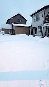 20180217向かい駐車場の雪寄せ前の様子朝2