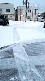 20180217向かい駐車場の雪寄せ前の様子朝3