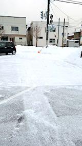 20180217向かい駐車場の雪寄せ後の様子朝3