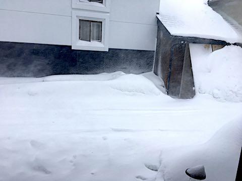 20180217会津は恐ろしいほどの吹雪模様