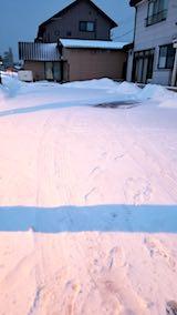 20180218向かい駐車場の雪寄せ前の様子朝2