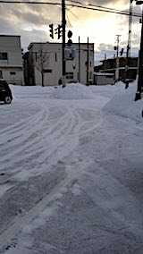20180219向かい駐車場の雪寄せ後の様子3
