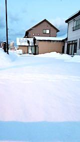 20180220向かい駐車場の雪寄せ前の様子朝2