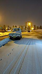 20180220外の様子夕方雪が降り出す
