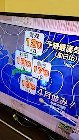 20180313NHKテレビ東北地方今日の予想最高気温