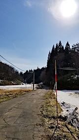 20180315山へ向かう途中の様子峠道手前