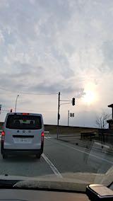 20180315洗車へ向かう途中の様子夕日