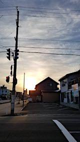 20180319外の様子夕日