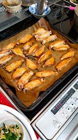 20180407晩ご飯鶏手羽のオーブン焼き