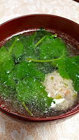 20180413お昼ご飯ミツバの肉団子スープ