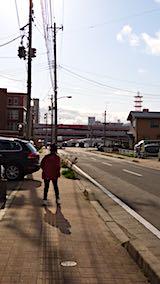 20180416近くの公園へ向かう途中の様子秋田新幹線