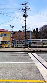 20180417山からの帰り道の様子桜大橋から望む桜