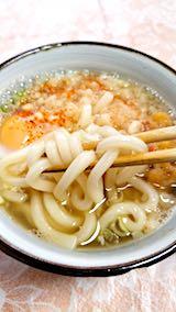 20180417お昼ご飯天ぷら玉子うどん