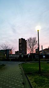 2018041インターバル速歩途中から望んだ夕焼け空