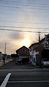20180419外の様子夕方夕日