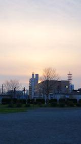20180420公園内から望んだ夕焼け空の様子