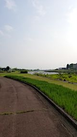 20180501外の様子会津の朝宮川河川敷インターバル速歩2