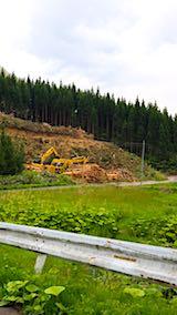 20180513山へ向かう途中の様子杉伐採現場