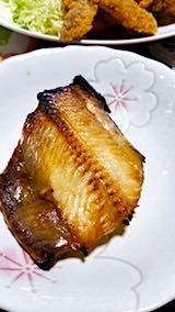 20180601晩ご飯ホッケの焼き魚