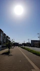 20180604速歩からの帰り道の様子東の空