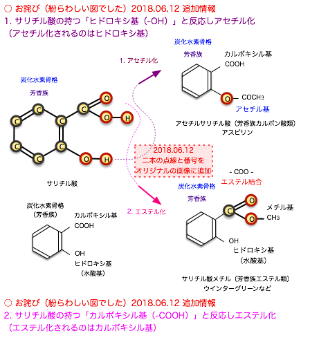 20180612サリチル酸二つの官能基エステル化アセチル化1