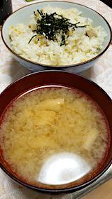 20180616晩ご飯エノキダケと油揚げのみそ汁