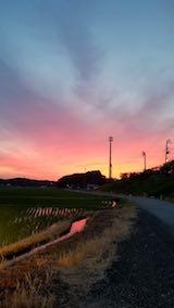 20180619外の様子夜のはじめ頃夕焼け空