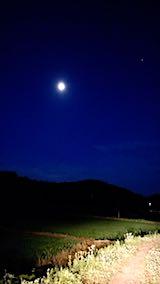 20180625山から望んだお月さま